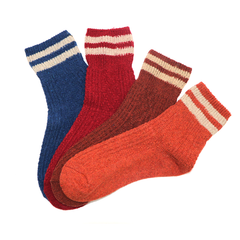 5Pair Men Socks Stripe Style Causal Autumn Winter Mens Long Socks Fashion Male Compression Socks Funny Calcetines Masculinas