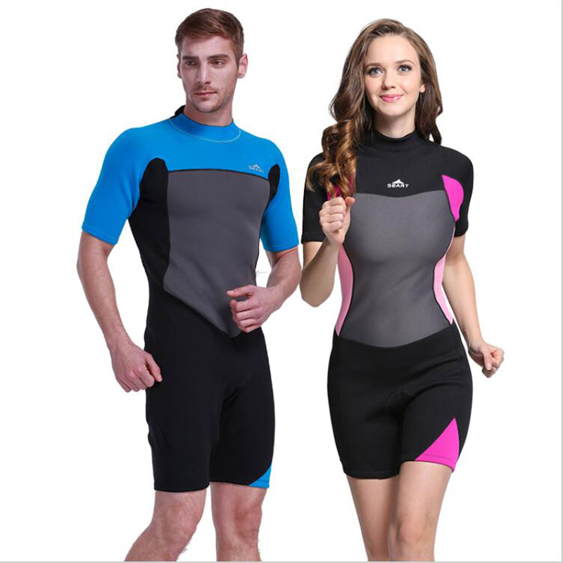 Sbart 2mm Half Sleeve Neoprene Wetsuits One Piece Surfing Clothing Thermal Men Women Swimwear Diving Suit Couple Diving Wetsuit sbart upf50 924