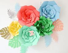 1pcs 30cm/40cm DIY Paper Flowers Backdrop Decorative Artificial Wedding Favors Birthday Party Home Decoration