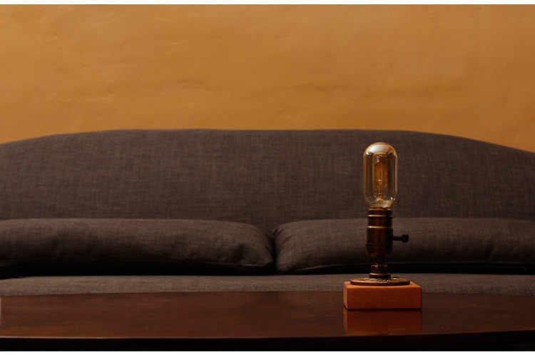 Классический ретро Кофе магазин настольная лампа древесины Винтаж настольная лампа затемнения 40 Вт лампочка Эдисона 220 В Спальня бар свет стол деревянный
