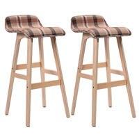 Giantex Set Of 2 29 Inch Vintage Wood Bar Stool Modern Dining Chair Counter Tall Linen