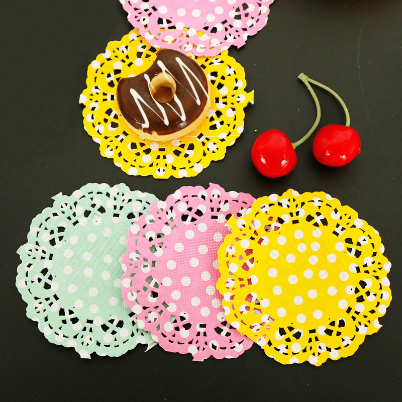 Napkin-Pads Paper-Mat Doilies Placemat Decoupage-Paper Wedding-Decoration Party Polka-Dots