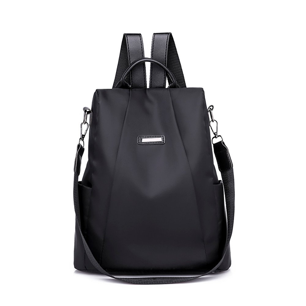 Women Travel Bag Shoulder PU <font><b>Leather</b></font> bag Solid Casual Ladies Phone Functional Laptop <font><b>Backpack</b></font> Large Capacity Travel Duffle image