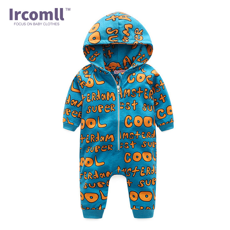 Ircomll Wholesale 2018 Spring Autumn Baby Boys Girl Clothes Hooded Long-Sleeve Jumpsuit Infant Romper Coveralls Baby Roupas bebe star romper spring autumn fashion newborn baby clothes infant boys girls rompers long sleeve coveralls roupas de bebe unisex