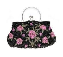 Neue Design Rot Chinesischen frauen Hochzeit Abendtasche Clutch Handtasche Stilvolle Perlen Pailletten Braut Tasche SMYCWL-A0048