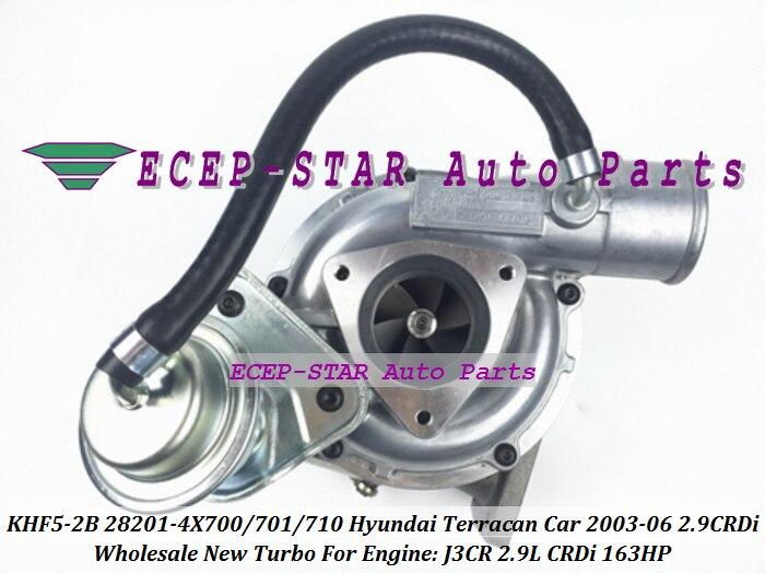 RHF5 KHF5-2B 28201-4X700 28201-4X701 28201-4X710 Turbo Turbocharger For HYUNDAI Terracan Car 2003-2006 J3CR J3  2.9L CRDi 163HP