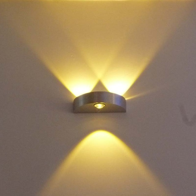 LED 3 W Lmparas de pared moderna 6 Pa colorido interior casero