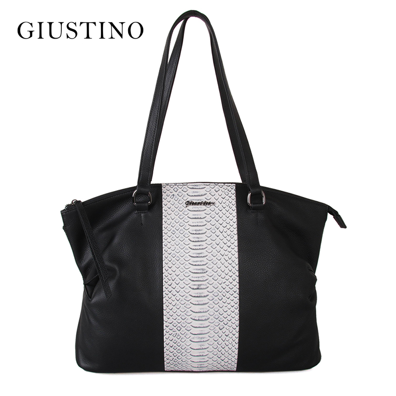 Giustino Genuine Leather Tote Shoulder Female Bag Women Messenger Handbag Ladies Purse For 2017 Luxury Designer Sac A Main Femme стоимость