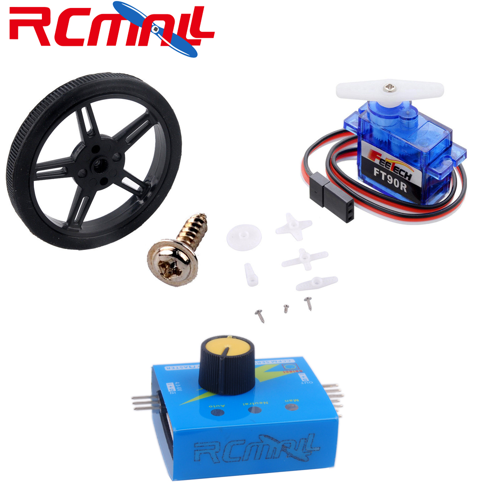 Feetech FT90R Digital Servo, 360 Degree Continuous Rotation Micro RC Servo Motor 6V 1.5KG PWM/Servo Wheel /Tester FZ3328