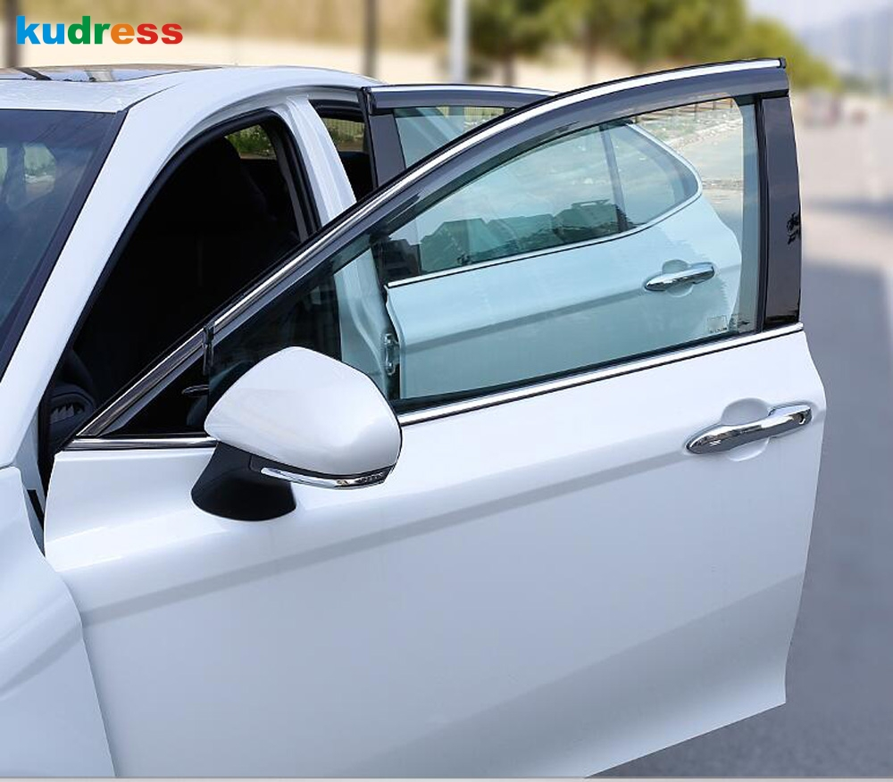 For toyota camry 2018 2019 2020 Car Window Visor Door Rain Sun Shield Side awning shelters Cover Trim Auto Accessories
