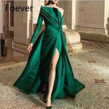 Новое поступление с открытыми плечами зеленые кружевные вечерние платья с длинным рукавом вечернее abendkleider Robe de soiree Abiye официальное платье