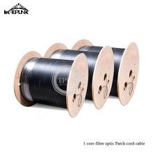 1 ядро для оптического кабеля ftth drop cable 1 ядро 500 M/рулон крытый и открытый 1 Базовый FTTH кабель черный/белый одиночный защищаемый сердечник провода