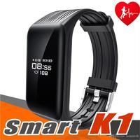 10pcs/lot Fitness Tracker k1 Smart Bracelet Real time Heart Rate Monitor down to Sec Smart Band Activity Tracker