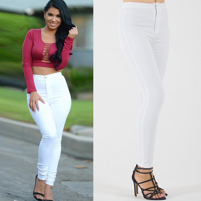 Aliexpress.com : Buy New Casual High Waist Jeans Female Plus Size ...