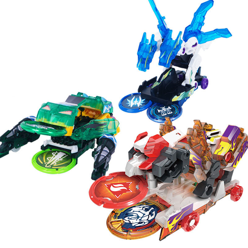 Kids Cars Toys Mecard Burst Speed Deformation Car Action Figures Capture Wafer 360 Degree Burst Transformation Car Toys thinkeasy 8 pcs set puzzle transformation star wars space cars prime bruticus action figures block toys for kids birthday gifts