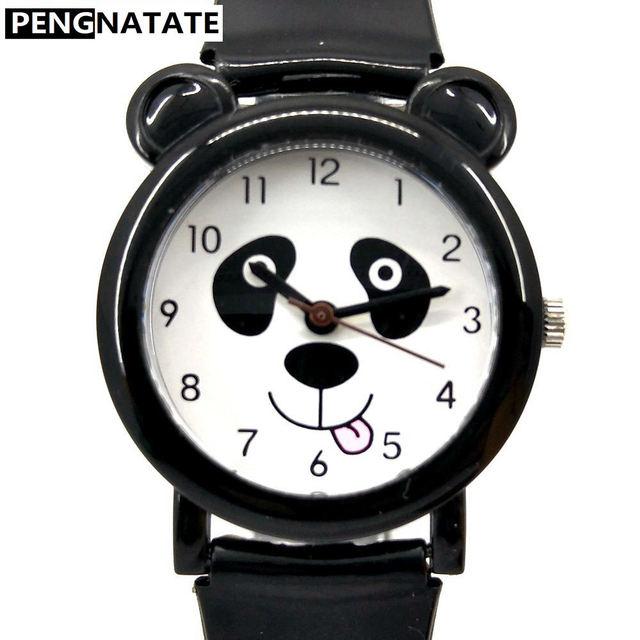 14caf2ed13d6fb ウィリスファッション子供女の子男の子腕時計防水腕時計子供パンダパターンクォーツシリコーン腕時計アニメ割引