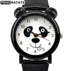WILLIS Fashion Children Girls Boys Watch Waterproof Wrist Watches Kids Panda Pattern Quartz Silicone Watch Anime Discount Clock(China)