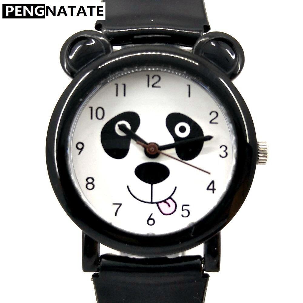 WILLIS Fashion Children Girls Boys Watch Waterproof Wrist Watches Kids Panda Pattern Quartz Silicone Watch Anime Discount Clock