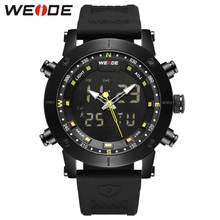купить WEIDE luxury Genuine LCD digital Sport fitness watch alarm clock men Water Resistant Analog Quartz watches amazfit bip gift box по цене 2591.75 рублей