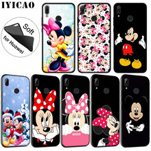 IYICAO Mickey Minnie Mouse Soft Silicone Phone Case for Huawei P30 P20 Pro P10 P9 P8 Lite Mini 2017 2016 P smart Z 2019 Cover