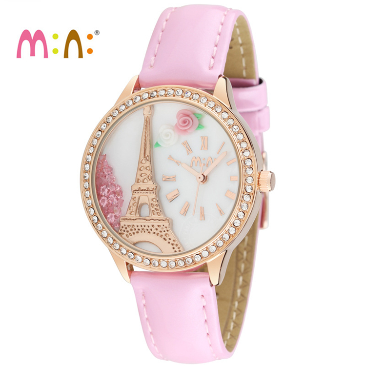 Luxury Brand Women Watches Fashion Waterproof 3D Tower Bracelet Ladies Quartz Wrist Watch Clock Woman saat 2017 Relogio Feminino relogio feminino clock women ladies simple love eiffel tower round quartz analog bracelet wrist watch gift dress watches sale
