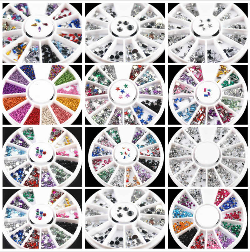 1pcs Rotation Grid Nail Art Templates Pure Clear Jelly Silicone nail stamping plate Transparent Nail Stamp Nail Art 01