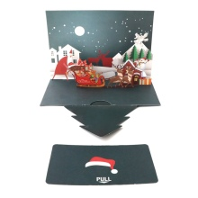 1pcs Creative Christmas Popup Cards DIY Handmade 3D Winter Festival Greeting Gifts Happy Holiday Invitation