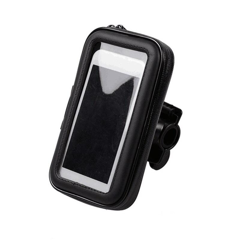 1 Pcs Universal Waterproof Holder Motorbike Motorcycle Case Bike Bag Phone Mount Standed Black For iPhone For Samsung GPS