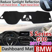 for BMW 5 Series G30 2017 2018 2019 2020 Anti-Slip Mat Dashboard Cover Pad Dashmat Carpet Cape Accessories 520i 525i 530i 540i