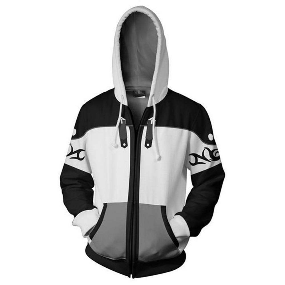 Anime Kingdom Hearts Hoodie Cosplay 3D Print Zipper Hoodies Men Women Sweatshirts High School Boy Fashion Clothes