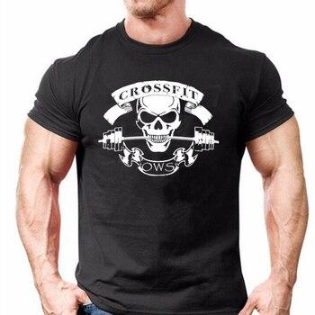 T-shirt 100% coton Hommes Muscu Crossfit