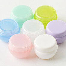 Refillable Bottles Plastic Empty Makeup Jar Pot Travel Face Cream/Lotion/Cosmetic Container Random Color(China)