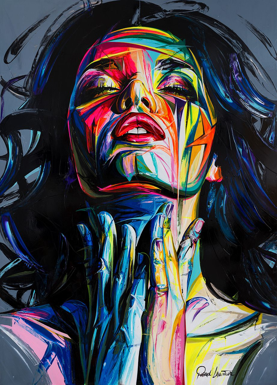 Face Oil Painting Francoise Nielly Style Palette Knife Portrait