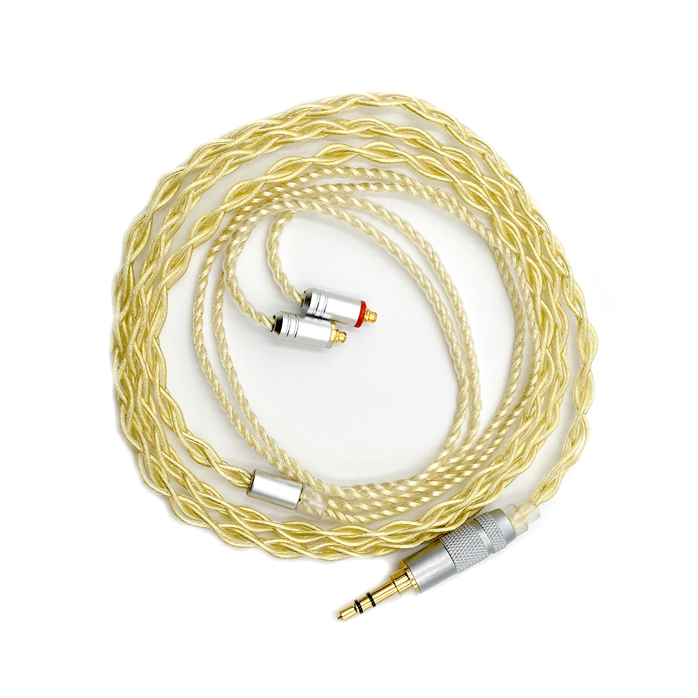 MMCX/0.78mm 2Pin Connettore 3.5mm 2.5mm Equilibrato Aggiornato Cavo del Trasduttore Auricolare Estremamente Morbido 7N OCC Argento Puro + oro Placcato Per IEMs