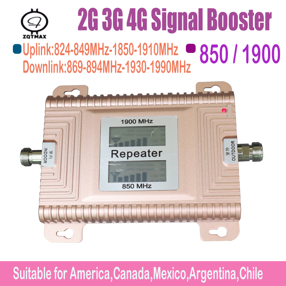 LCD Displays CDMA850 PCS1900 Repeater 4g Signal Booster 2G 3G 4G Mobile Signal Booster Cdma Signal Amplifier 3g Signal Amplifier