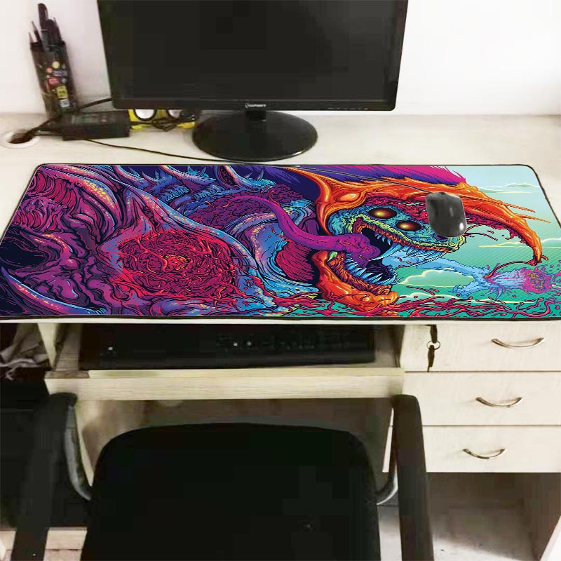 Mairuige 90*40cm Large Gaming Lock Edge Speed Mouse Pad Mat For CS GO Hyper Beast AWP For CSGO DOTA LOL Gamer Big Desk Mousepad