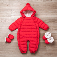 Newborn Baby Winter Clothes 90% Duck Down Snowsuit Infant Boys Girls Down Jacket Thick Warm Winter Romper Baby Clothes Jumpsuit