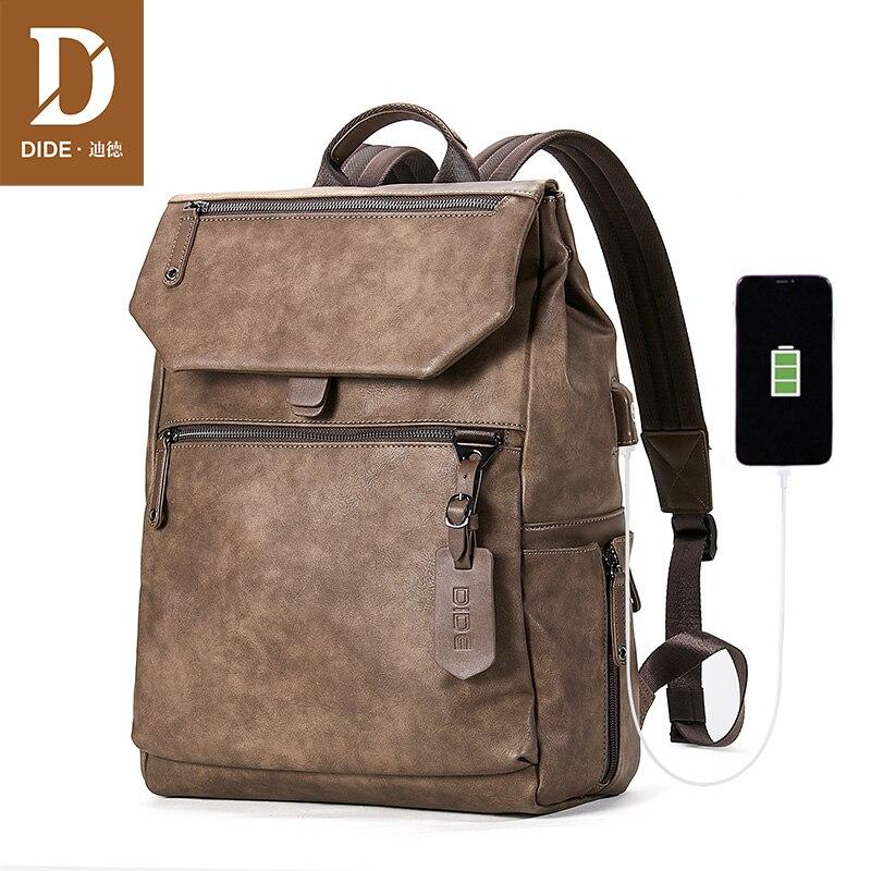 Bagaj ve Çantalar'ten Sırt Çantaları'de DIDE Dropshipping Erkekler Bilgisayar Okul Çantaları Su Geçirmez Sırt Çantası Erkek USB şarj seyahat sırt çantası 15 inç Laptop Sırt Çantası Erkek Çantası'da  Grup 1