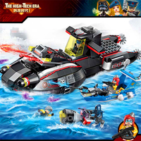 2718 Enlighten Space Adventure High Tech Era Submarine Model Building Blocks Action Figure Toys For Children Compatible Legoe