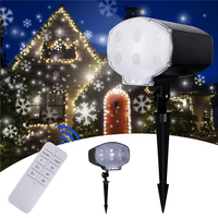 Led Snowfall Projector Outdoor Garden Laser Projector Lamp Snow Scene Light Waterproof IP65 Christmas New Year Snowflake light