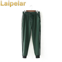 Laipelar fashion green sweatpants elastic waist casual pants leggings Long Pants Jogger Autumn Fashion Casual Trousers