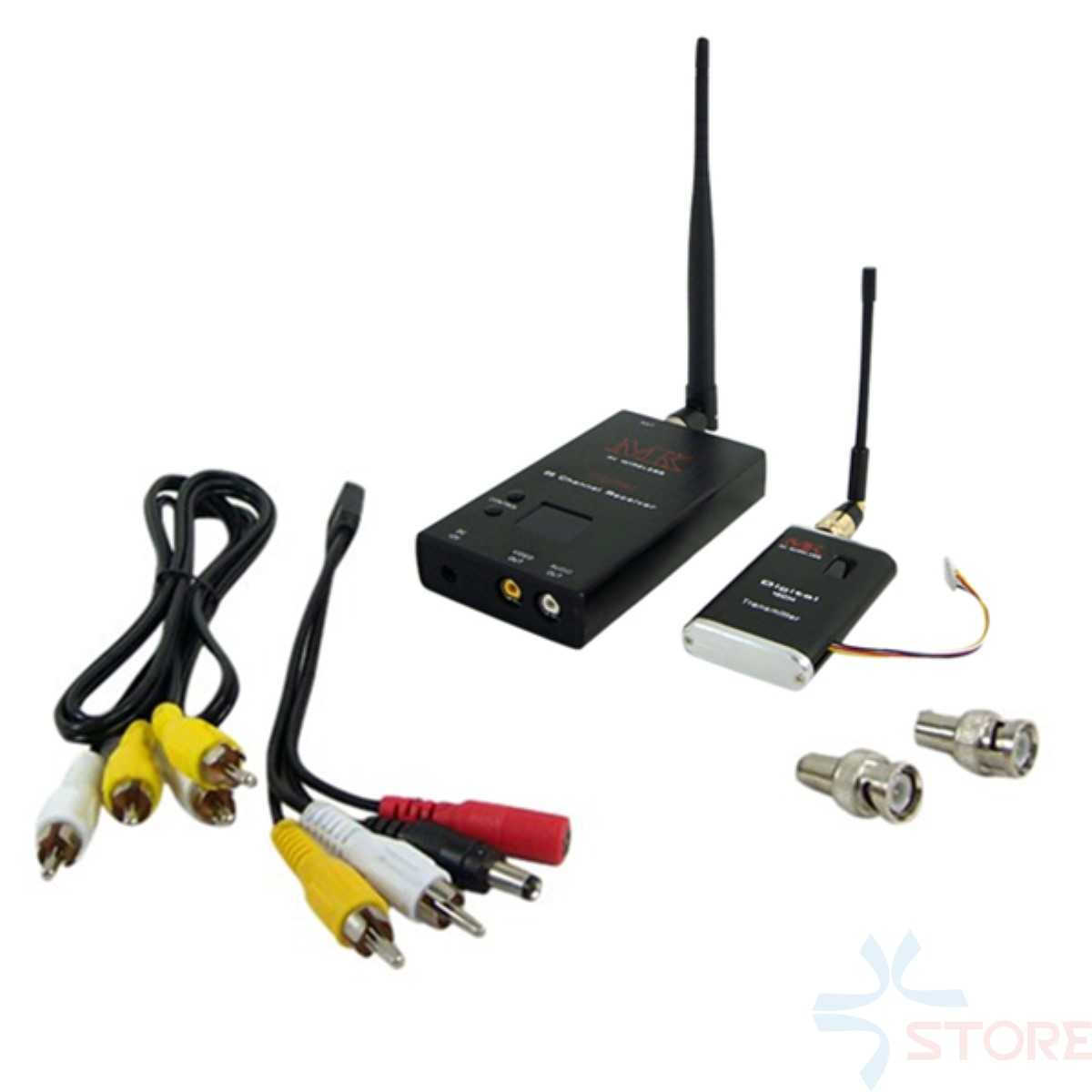 MK 1.2G Hz 15CH 2W 2000mW FPV 1-5km Distance Wireless Audio Video <font><b>CCTV</b></font> Transmitter Receiver For FPV PHOTOGRAPHY