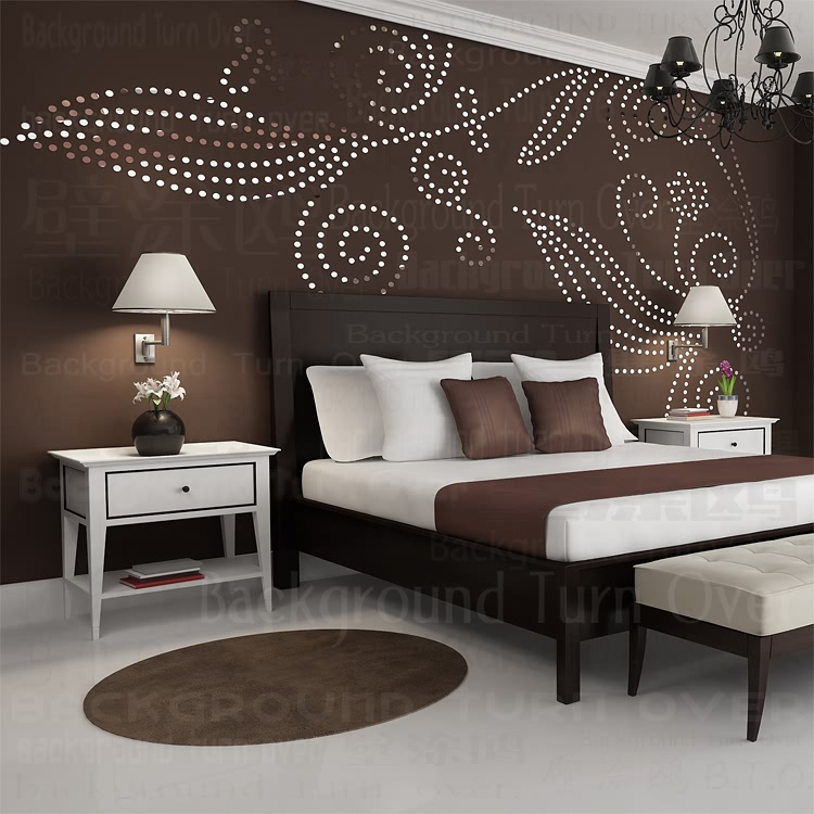 DIY plant tree pattern round dot 3d wall sticker home decor large wall mirror bedroom bed head decal stickers wall poster R101