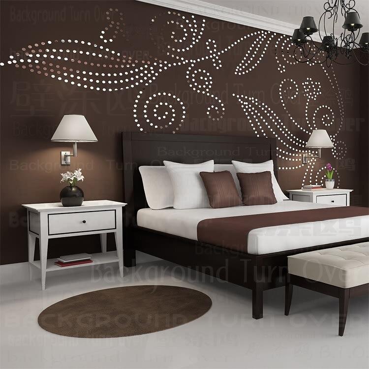 DIY planta árbol patrón redondo punto 3d pared pegatina decoración para el hogar espejo de pared grande dormitorio cama cabeza calcomanía pegatinas cartel de pared R101