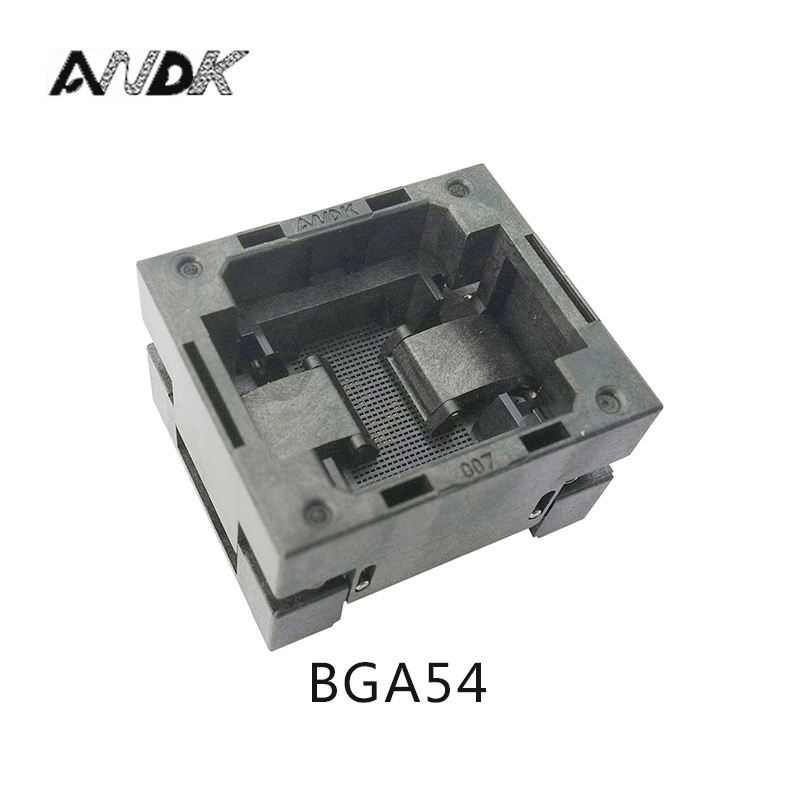 BGA54 OPEN TOP burn in socket pitch 0.8mm IC size 8*8mm BGA54(8*8)-0.8-TP01/50N BGA54 VFBGA54 burn in programmer socket bga80 open top burn in socket pitch 0 8mm ic size 7 9mm bga80 7 9 0 8 tp01nt bga80 vfbga80 burn in programmer socket