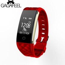 Роскошные Bluetooth наручные часы для Android IOS IPhone Для женщин Для мужчин сердце Тейт Мониторы Умные часы 3 цвета трекер сна smartwrist
