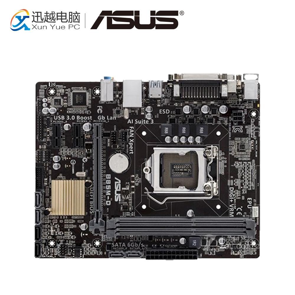 Asus B85M-D Desktop Motherboard B85 Socket LGA 1150 i7 i5 i3 DDR3 16G SATA3 Micro-ATX asus b85m v5 plus desktop motherboard b85 socket lga 1150 i7 i5 i3 ddr3 16g sata3 micro atx