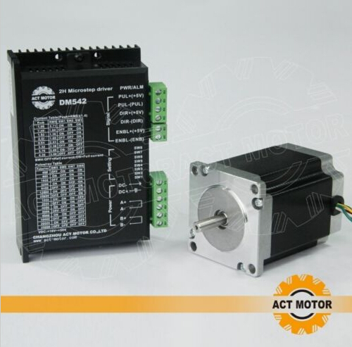 4-lead bipolar Nema 23 Stepper Motor 76MM,270oz(1.9n.m),3A with driver cnc mill germany free ship 3axis 4 lead nema 23 stepper motor 270oz in 3a 76mm ce