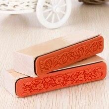 Design bonito o melhor preço de borracha de madeira flor laço selo floral scrapbook artesanato casamento para decoração