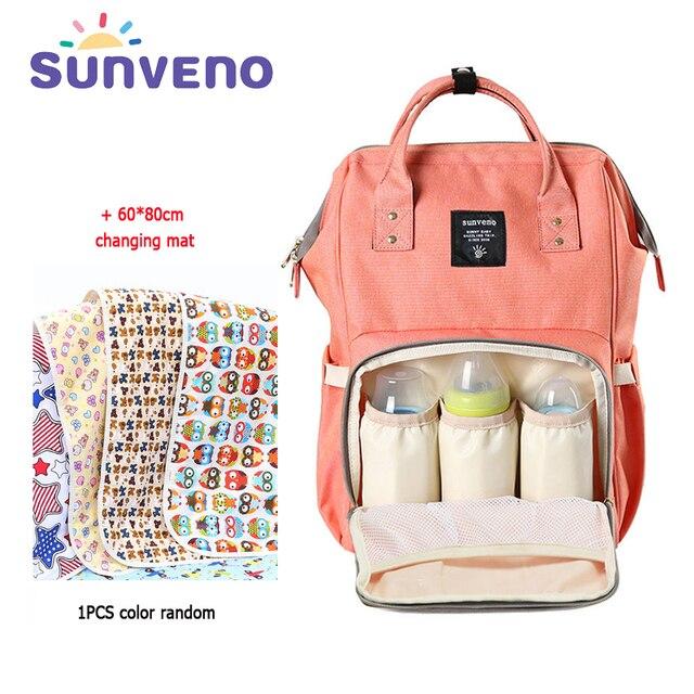 Sunveno Free Shipping Mummy Maternity Diaper Bag Fashion Mom Backpack 2017 Brand Large Capacity Baby